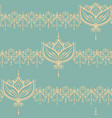 sketch of endless stripes with lotus flower in vector image