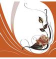 elegant beautiful rose vector image vector image