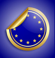 Europe Union sticker vector image vector image