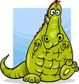 cartoon dragon funny fantasy character vector image