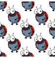 Cartoon ladybugs seamless pattern background vector image