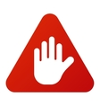 Danger warning attention sign icon vector image