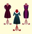 Evening Dresses on a mannequin vector image