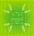 green calligraphic elements vector image