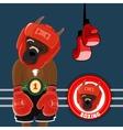 Set Symbols Boxing vector image