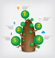Tree infographic vector image