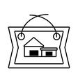 real estate cottage housing poster outline vector image