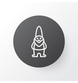 Gnome icon symbol premium quality isolated dwarf vector image