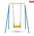 Children swing front view vector image