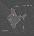 dotted india map vector image