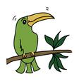 green bird vector image