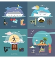 Ship Flat Set vector image