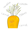 carrot with green leaves vector image vector image