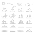 Landscape line elements vector image