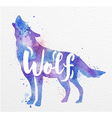 Painted animals wolf vector