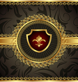 vintage with heraldic elements - vector image vector image