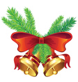 Golden Christmas Bell6 vector image