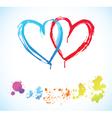 creative hearts vector image