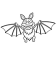 Bat outline vector image