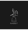 Cartoon cute outline rabbit vector image