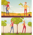 Cartoon Gardeners Set vector image