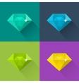 Diamond set in flat design vector image