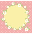 Lovely frame with flowers vector image