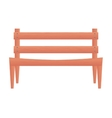 park chair wooden icon vector image
