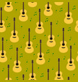 seamless pattern with guitars vector image