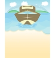 speed boat on the blue water vector image