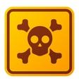 Danger sign skull icon vector image