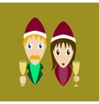 flat on background of man woman wine vector image