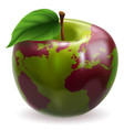 apple world globe vector image vector image