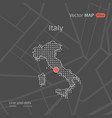 dotted italy map vector image