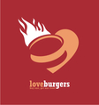 Minimalistic ad design for fast food restaurant vector image vector image
