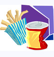 snacks and juice vector image