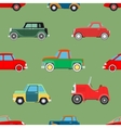 Seamless wallpaper of cars vector image