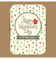 valentines greeting or party invit card2 vector image vector image