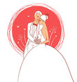 wedding pics vector image