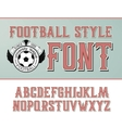 label font Football style vector image