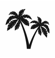 Two palms icon simple style vector image