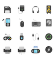 Color icon set - devices accessory vector image vector image