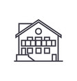 chalet line icon sign on vector image