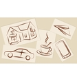 drawings on paper vector image
