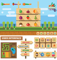 Farm in the village vector image