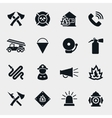 Fire fighter icons vector image