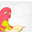 Funny Monster Reading vector image