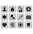 medical icons set first aid symbol vector image