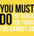 motivational poster vector image