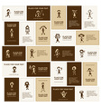 Set of business cards with sketches of people icon vector image